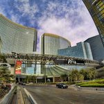 City side entrance to Aria