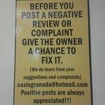 Uma das regras de boa convivência ;-)