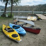 Kayaks, canoe, paddle boat available to use for free