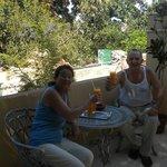 Succo di mango in terrazza