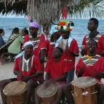 Garifuna Band on the beach at the Driftwood Bar and Restaurant
