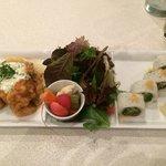 nanban and sushi plate