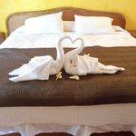 Daily towel arrangement