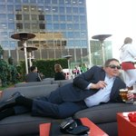 Relaxing at The Standard LA