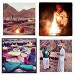 Bedouin desert dining under the stars.