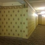 Hotel hallway and an ode to yester years through the wallpaper