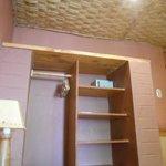Closet space in room