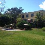 villa azalea, pool and green areas