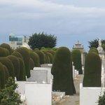 vue sur le cimetière de la ville