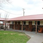 3 Motel rooms. Two doubles and One single. prices $43.20 for one person, 54.00 for two people.