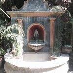 Little fountain in a courtyard