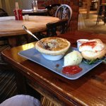 Neils Venison pie and mash with my burger bun