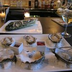 Oysters and a caesar salad with fresh anchovies!
