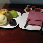 Fruit and chocolates awaiting me when i got to the room