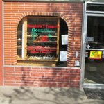 The outside of the restaurant/bakery.