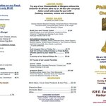 Philly's Finest, Melbourne, FL-New Menu