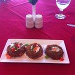 Rangoli crab cake