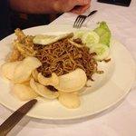 Tasty indonesian food: fried noodles.