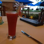 Fresh watermelon juice, go for happy hour!