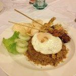 Tasty indonesian food: nasi goreng