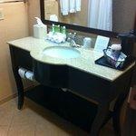 Bathroom sink in granite