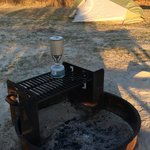 Fire Ring with Grill (and my own Pocket Rocket stove)