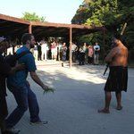 Powhiri - the welcoming ceremony