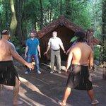 Learning the haka dance.