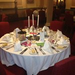 Table set up by The Carrington