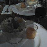 arroz y leche e vino dulce de Malaga