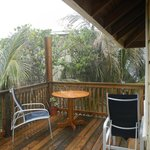 Our deck in the rain.