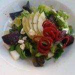 beet pear goat cheese salad