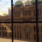 Lovely view of the QVB from our room :)
