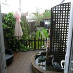 Private decking area with access to garden and car park