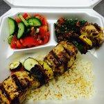 Chicken kabob plate