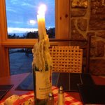 Romantic candlelight dinner in the lodge