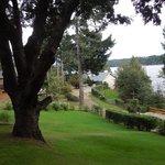 Bajada del jardin, a la calle y luego el lago