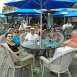 Family and friends having a great time at the Conch House