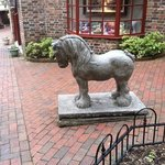 pretty horse statue, by the Thomas Kincade Gallery, at The Village