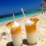 Pina coladas at the beach are the best!