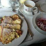 Amazing french toast and homemade granola with absolutely wonderful coffee!