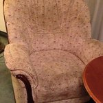 """disgustingly dirty chair in """"superior room"""" #317 (Andrew Lloyd Weber room)"""