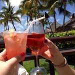 Drinks at the palm bar!