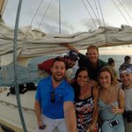 The sunset sail with some of the crew!