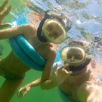 Snorkeling using the gopro camera