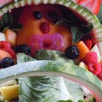 fruit baby in carriage