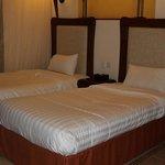 Sleeping area with mosquito nets