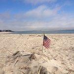 New England patriotism even on the beach