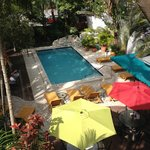 Overlooking the pool.