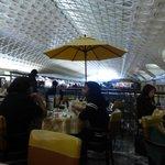 Patio dining inside Union Station, Washington DC